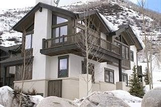 Photo of a mountain vacation home. Purchase using a vacation home mortgage